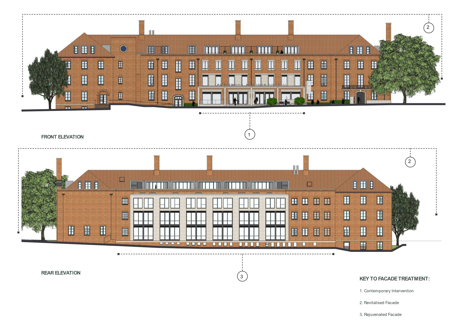 brentwood-council-elevations-drawing